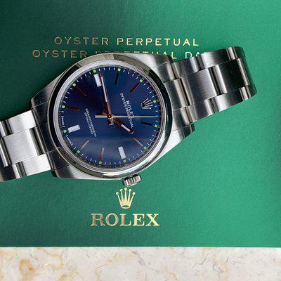 FS: Rolex 114300 39 MM Oyster Perpetual Blue Dial Box & Papers Extra Minty