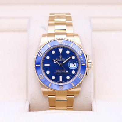 FSOT: Rolex Submariner 116618LB Yellow Gold Blue Dial – 2020 Box & Papers