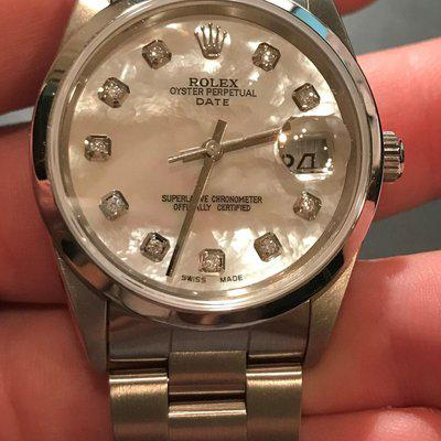 FS: ROLEX 34MM STAINLESS OYSTER PERPETUAL DATE 15200