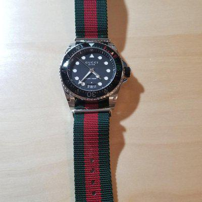 [WTS] Gucci Men's Swiss Diver Green and Red Nylon Strap 44mm BRAND NEW