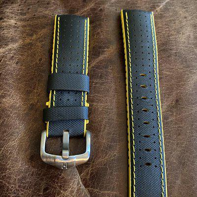 Hirsch Robby Sailcloth like new in 22mm yellow and black