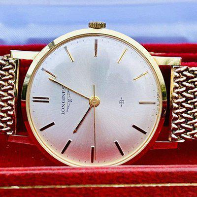 FS - Longines 14k solid gold with box for arms company Bofors