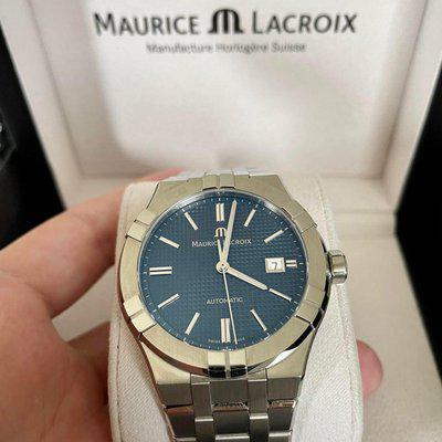 [WTS] Maurice Lacroix Aikon   20 months of warranty left, 42 mm, blue dial, automatic, box and papers