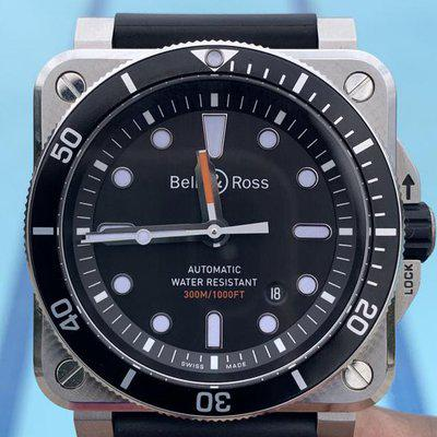 FS: Bell and Ross BR 03-92 Diver Black Dial Complete w/Box, Cards, Tools & Straps