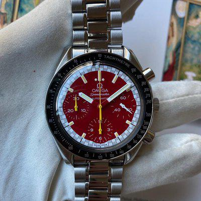 FS:Omega Speedmaster Schumacher Red Dial Steel Automatic 3510.61