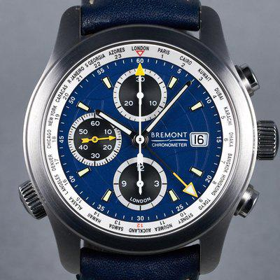 FS: 2012 Bremont World Timer Chronograph Ref: ALT1-WT/BL with Box and Papers