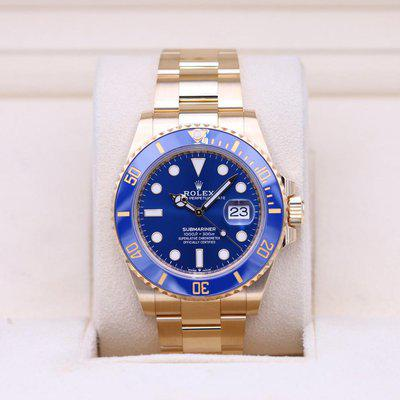 FSOT: Rolex Submariner 126618LB Yellow Gold Blue Dial – 2021 Box & Papers!