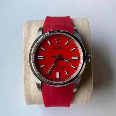 [WTS] Rolex Oyster Perpetual Red 36mm 126000 2021 (with new red Horus strap)