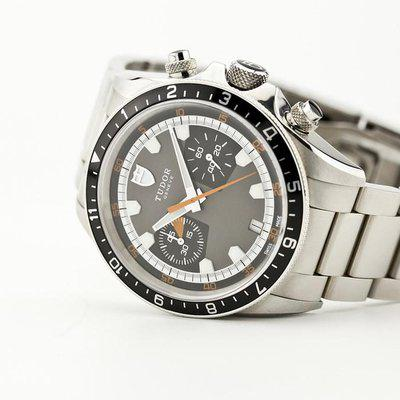fsot - Tudor Heritage Chrono - Grey Dial - 42mm - 70330N ( excellent / 2021 )