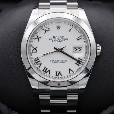 FSOT: Rolex Datejust 41 - 126300 - White Roman - Stainless - Oyster - 41mm - New