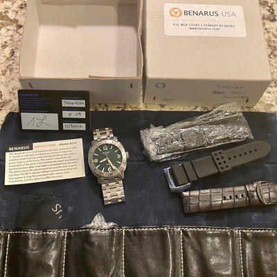 Benarus Moray Green Dial - full kit including original warranty card 2009