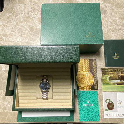 Rolex Day Date 18239 A Serial, WG, 36 MM, Double Quick Set, Blue Dial, Serviced