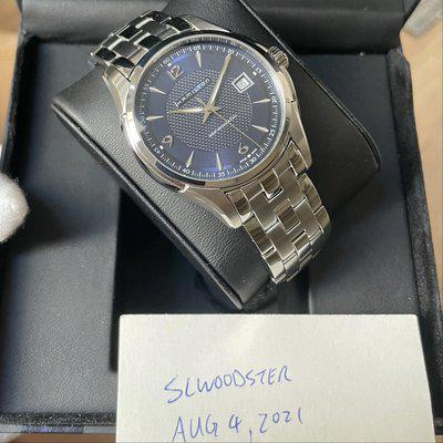 For Sale: FS New Hamilton Jazzmaster Viewmatic Blue Men's Watch - H32515145