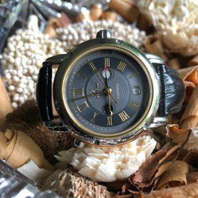 FS: Gevril AM/PM, GMT. Stainless and Gold