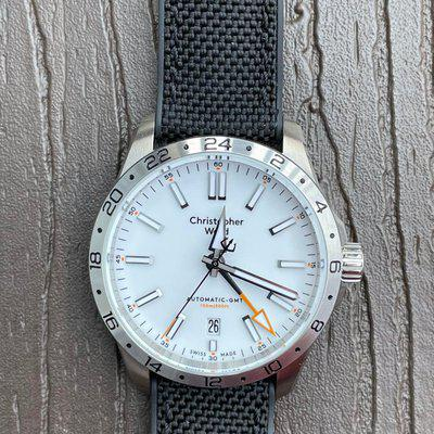 [WTS] Christopher Ward C63 GMT white