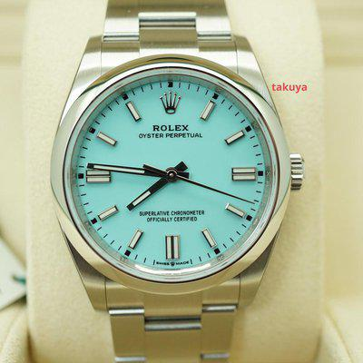 FSOT:BNIB Rolex 126000 OYSTER PERPETUAL TURQUOISE TIFFANY BLUE DIAL 2020 FULL SET