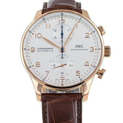 IWC Portuguese IW371480 18k Rose Gold Silver Dial
