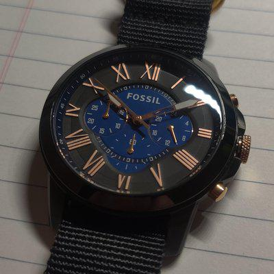 [WTS] Fossil Grant Chronograph (Blue)   USA   Ships Worldwide