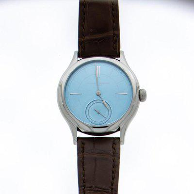 FS: Laurent Ferrier Galet Micro-Rotor Ice Blue in Stainless Steel.