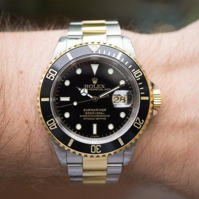 """[WTS] Rolex Submariner Date Ref. 16613 """"Swiss"""" only dial with Fresh Service"""
