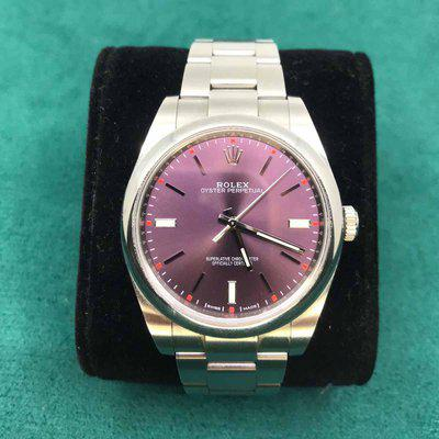 FS: Rolex 114300 Red Grape Oyster Perpetual 39mm Watch