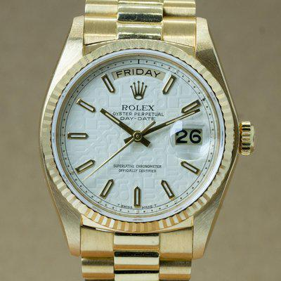 """[WTS] 1980 Rolex Day-Date with Box & Manuals """"White Ivory Jubilee"""""""