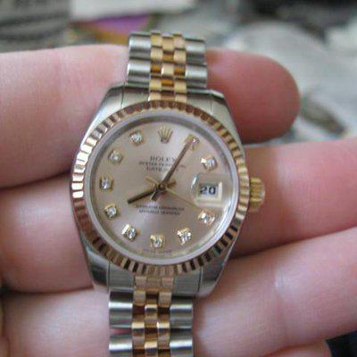 Fs: Rolex ladies pink gold/stainless steel datejust