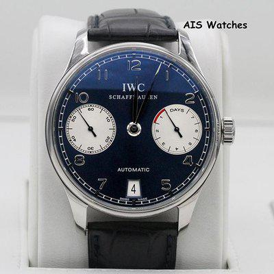 FSOT: IWC Schaffhausen Portuguese 42.3MM Automatic 7 Day Laureus Edition IW500112 B&P