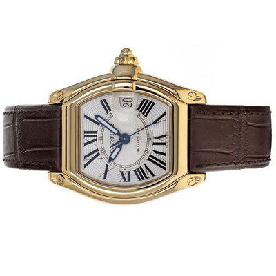 Cartier 2524 Roadster 18k Yellow Gold Box Service Papers