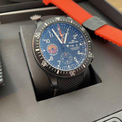Fortis Official Cosmonauts Chronograph Amadee-18 FULL-SET 12/19 Black PVD