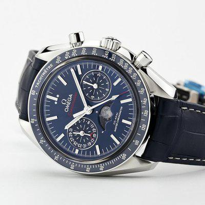 fsot - Omega Speedmaster - Blue Moonphase - 44.25mm - Master Co-Axial ( new / 2020 )