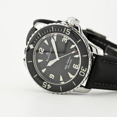 fsot - Blancpain Fifty Fathoms - Black - 45mm 5015-1130-52A ( complete )