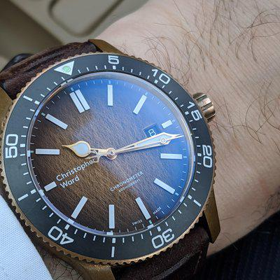 [WTS] Christopher Ward Bronze C60 Trident Ombre Limited Edition - 43mm Case - COSC Chronometer - Full Kit