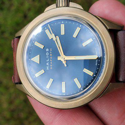 Halios Seaforth Bronze with blue dial $850