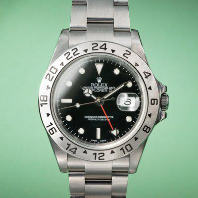 FS: 2004 Rolex Explorer II 16570 Black Dial with Papers