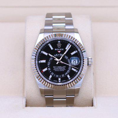 FSOT: Rolex Sky-Dweller 326934 Stainless Steel Black Dial – 2020 Box & Papers