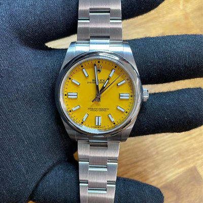 New Rolex 124300 Rolex OP41 Sept new style card Yellow Oyster Perpetual 41MM Full set