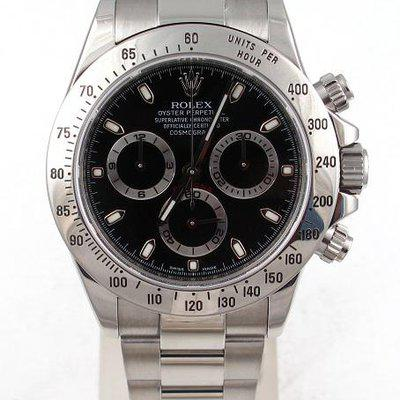 FS:Rolex Stainless Steel Daytona With Black Index Dial And Oyster Band Model#116520
