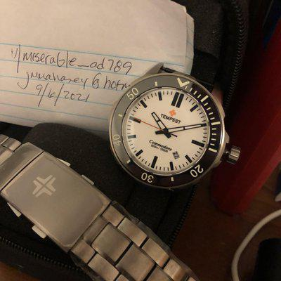 [WTS] White dial Tempest Commodore