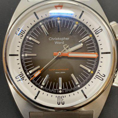 Christopher Ward C65 Super Compressor SW-200-1 Swiss automatic sand dial $900