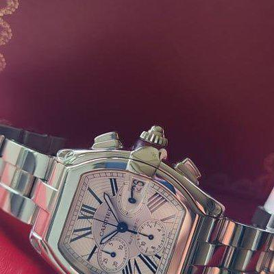 FSOT: Cartier Roadster XL Chronograph (W62019X6) Watch - Rare Complete Set, Stainless Steel Bracelet - $5,475