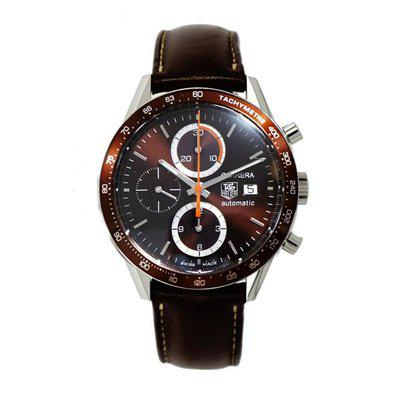 FS: Tag Heuer Carrera Chronograph brown dial on a strap.