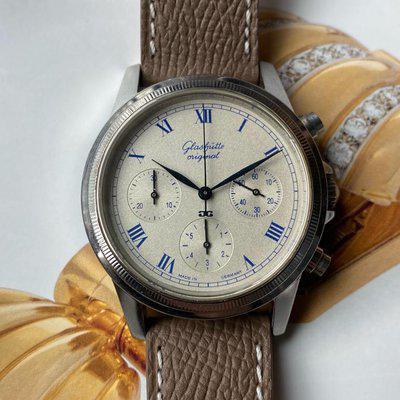 FS:Glashütte Original Navigator Chronograph Automatic Matt Cream Dial KAL Gub 10-60