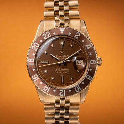 """FS: 1966 Rolex 18K Yellow Gold No Crown Guard GMT-Master 1675 with """"Concorde Hands"""""""