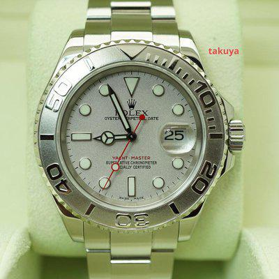 FSOT:Rolex 16622 YACHTMASTER PLATINUM DIAL 40MM D SERIAL BOXES PAPERS