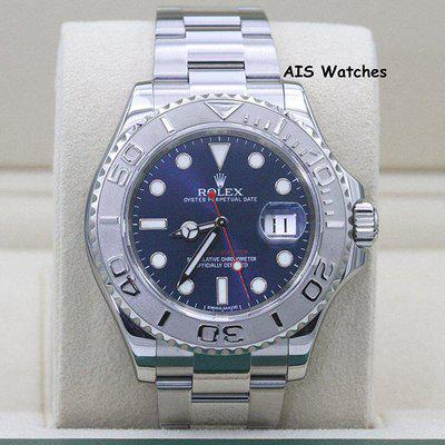 FSOT: Rolex YachtMaster 116622 Blue Dial Random Serial Box & Papers