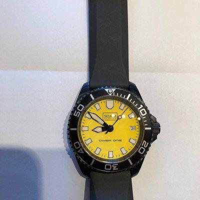 SOLD - Scurfa Dive One D1-500 Yellow PVD