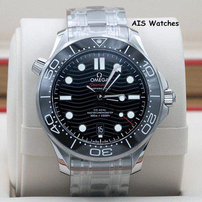 FSOT: BNIB Omega Seamaster 300M SS 42MM Diver Black Wave Dial 210.30.42.20.01.001 B&P