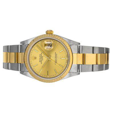 FS- Rolex 15203 Date P Champagne Dial Steel 18K Yellow Gold Box