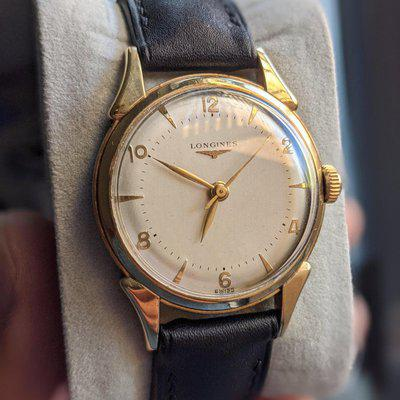 [WTS] Vintage Longines - Pie Pan Style - Ivory Dial with Elongated Lugs - 34mm